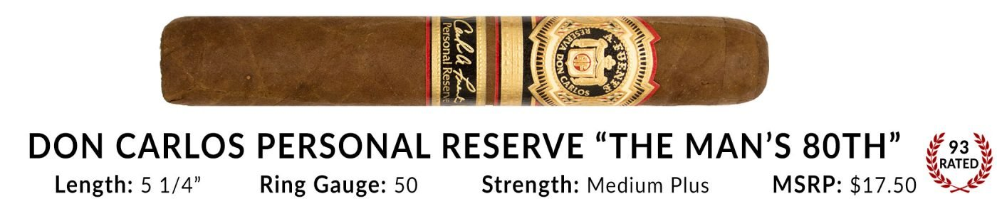 Don Carlos Personal Reserve The Man's 80th